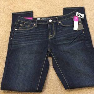 NWT Mossimo dark wash curvy fit skinny jeans, 4